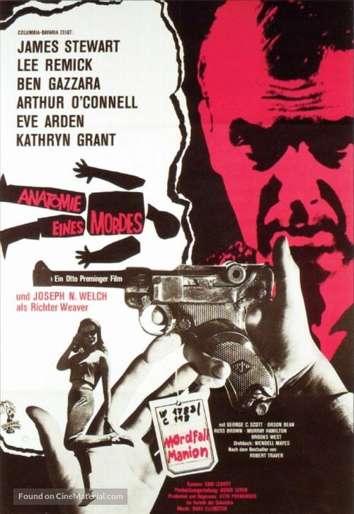 Anatomy of a Murder - German Movie Poster