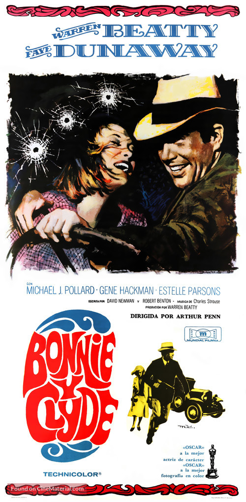 Bonnie and Clyde - Spanish Movie Poster