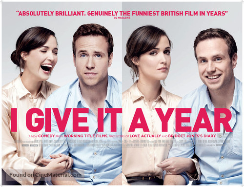 I Give It a Year - British Movie Poster