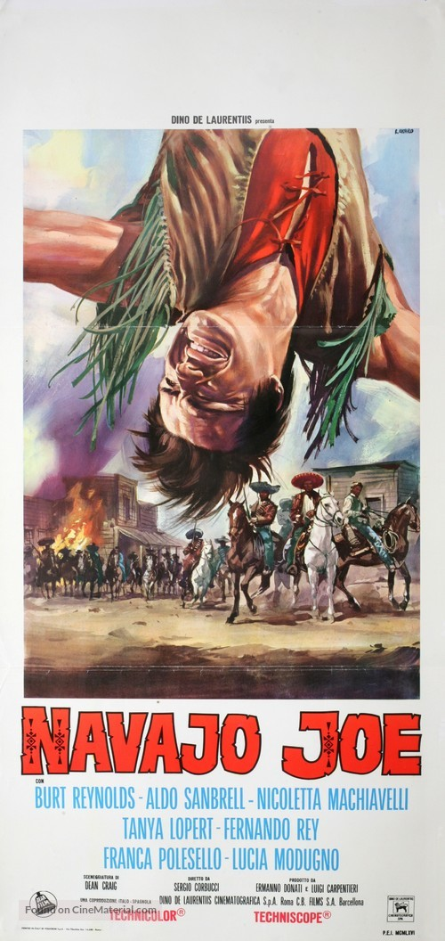 Navajo Joe - Italian Movie Poster