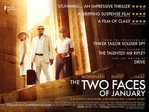The Two Faces of January - British Movie Poster