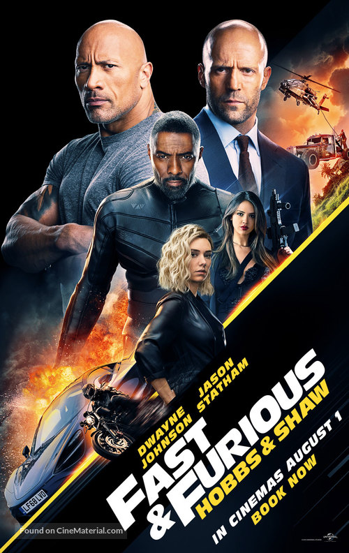 Fast & Furious Presents: Hobbs & Shaw - British Movie Poster