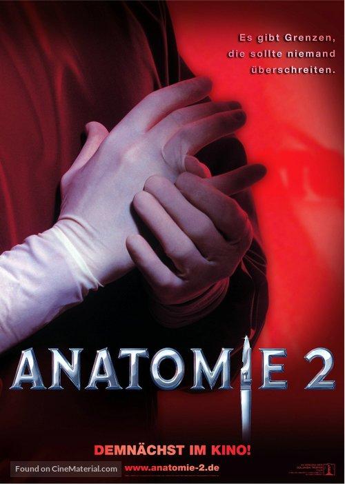 Anatomie 2 - German Movie Poster