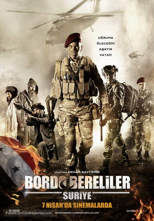 Bordo Bereliler Suriye - Turkish Movie Poster