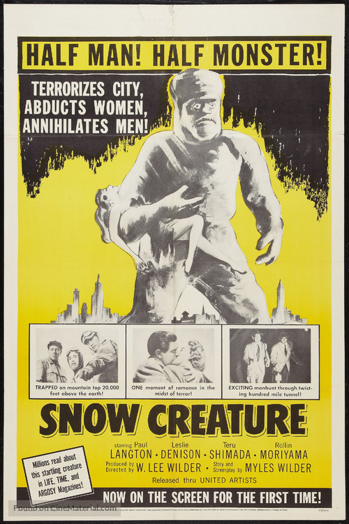 The Snow Creature - Movie Poster