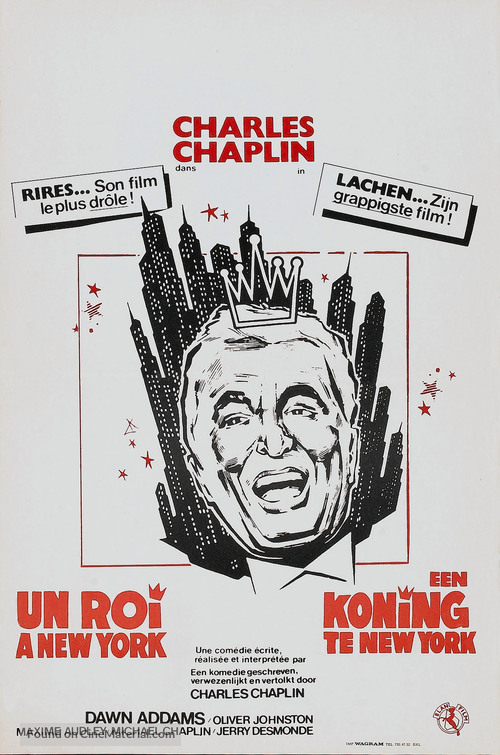 A King in New York - Belgian Movie Poster