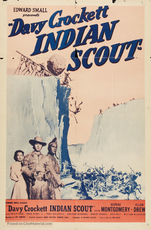 Davy Crockett, Indian Scout - Re-release poster