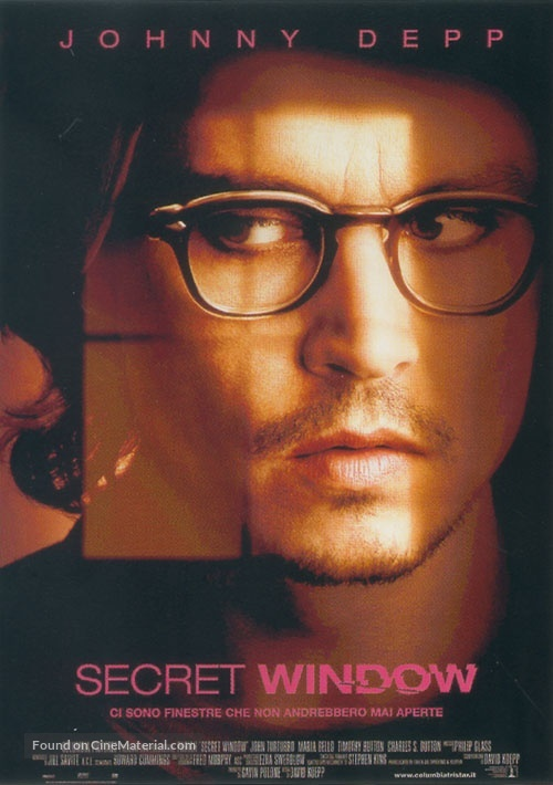 Secret Window - Italian Movie Poster