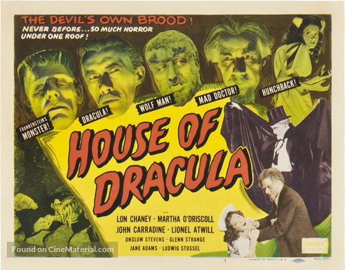 House of Dracula - Re-release movie poster