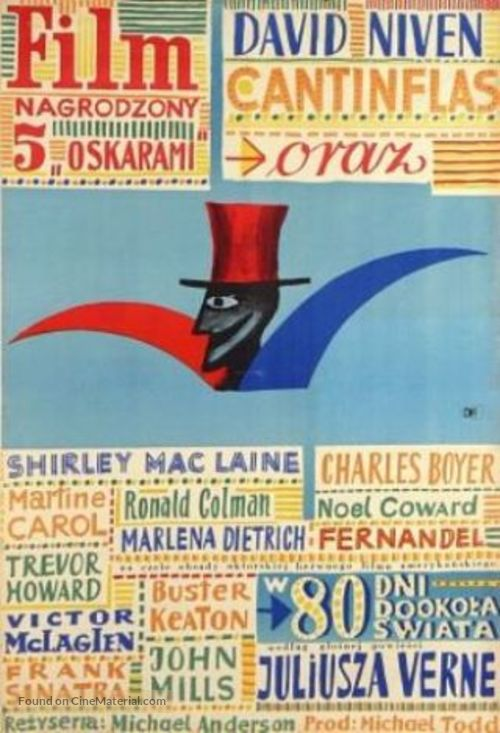 Around the World in Eighty Days - Polish Movie Poster