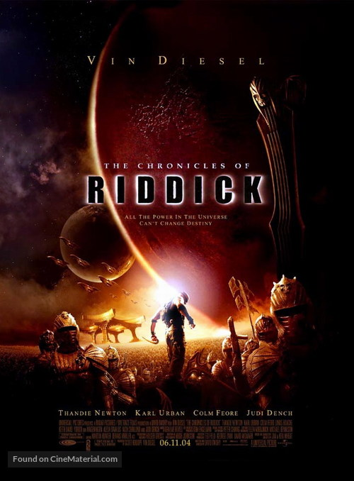 The Chronicles Of Riddick - Movie Poster