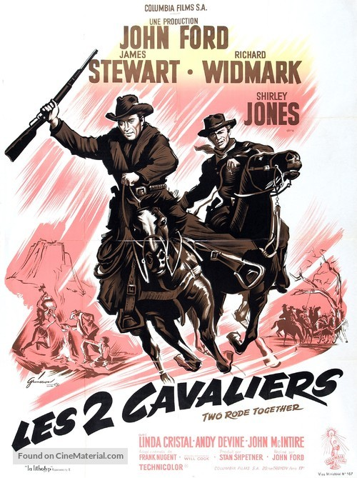 Two Rode Together - French Movie Poster