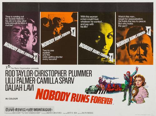 Nobody Runs Forever - British Movie Poster