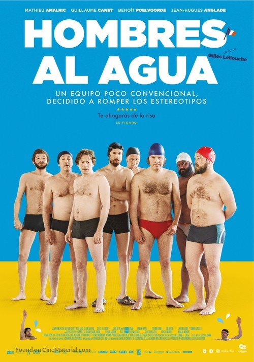 Le grand bain - Colombian Movie Poster