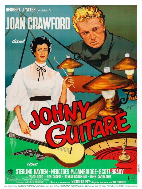 Johnny Guitar - French Movie Poster
