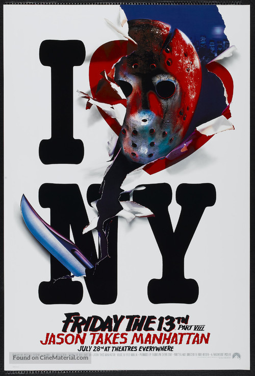 Friday the 13th Part VIII: Jason Takes Manhattan - Advance poster
