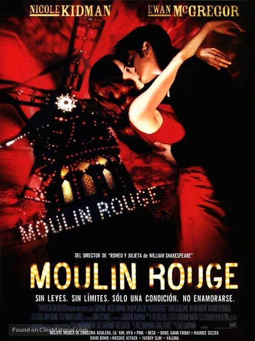 Moulin Rouge - Spanish Movie Poster