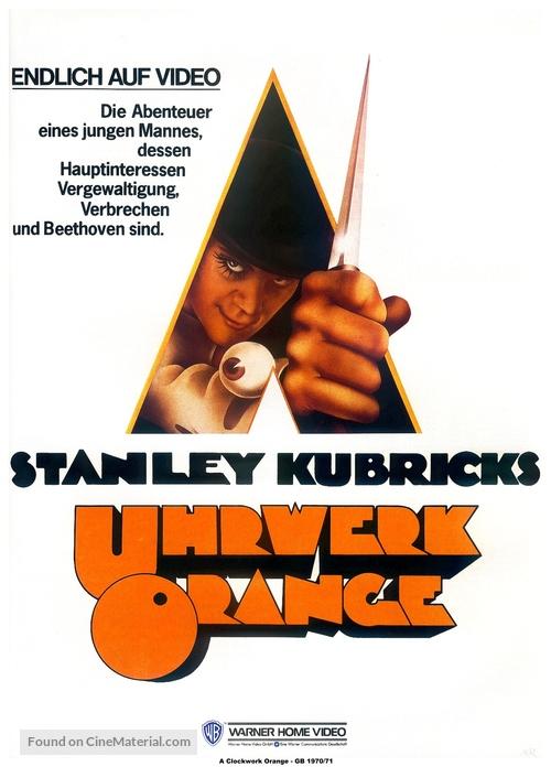 A Clockwork Orange - German Video release poster