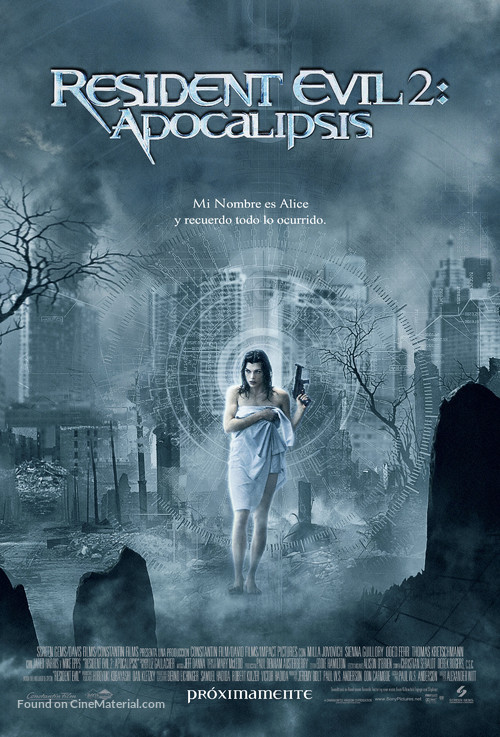 Resident Evil: Apocalypse - Mexican Movie Poster