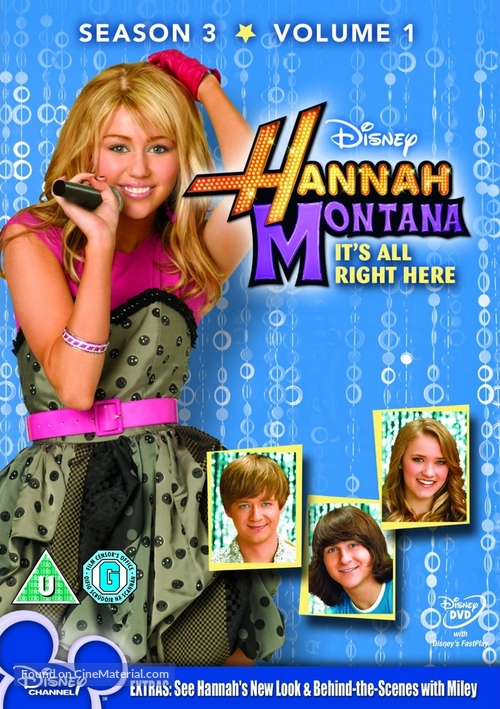 """Hannah Montana"" - British DVD cover"