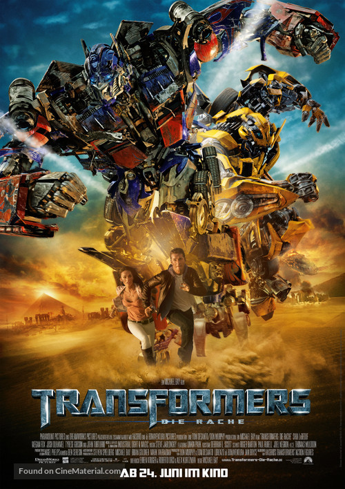 Transformers: Revenge of the Fallen - German Movie Poster