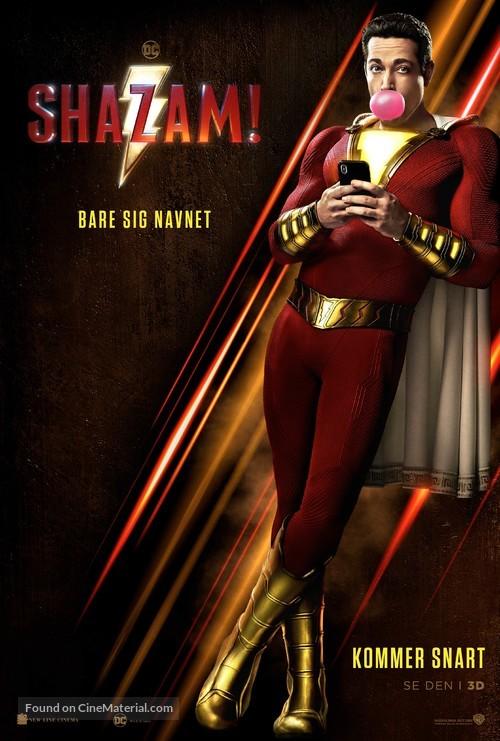 Shazam! - Swedish Movie Poster