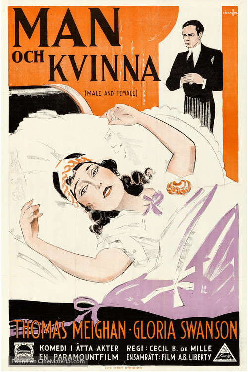 Male and Female - Swedish Movie Poster