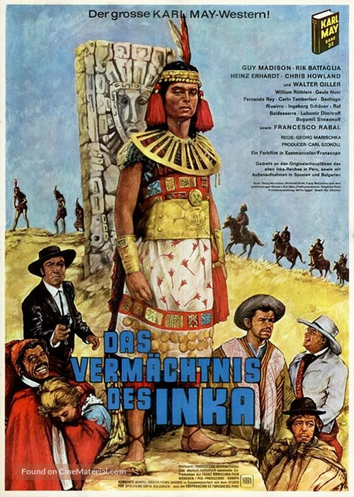 Das Vermächtnis des Inka - German Movie Poster