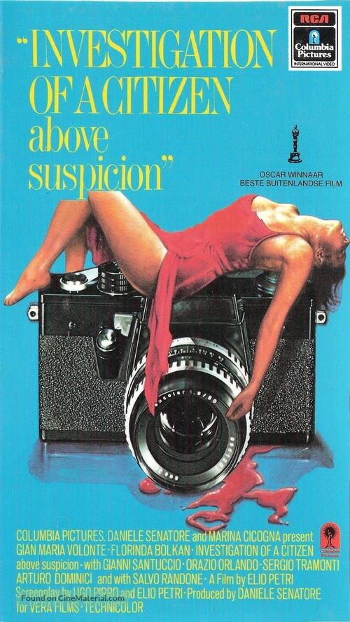 Indagine su un cittadino al di sopra di ogni sospetto - Dutch VHS cover
