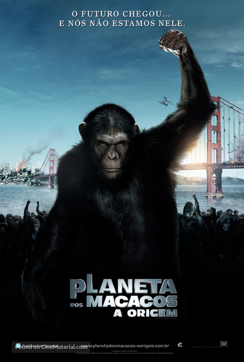 Rise of the Planet of the Apes - Brazilian Movie Poster