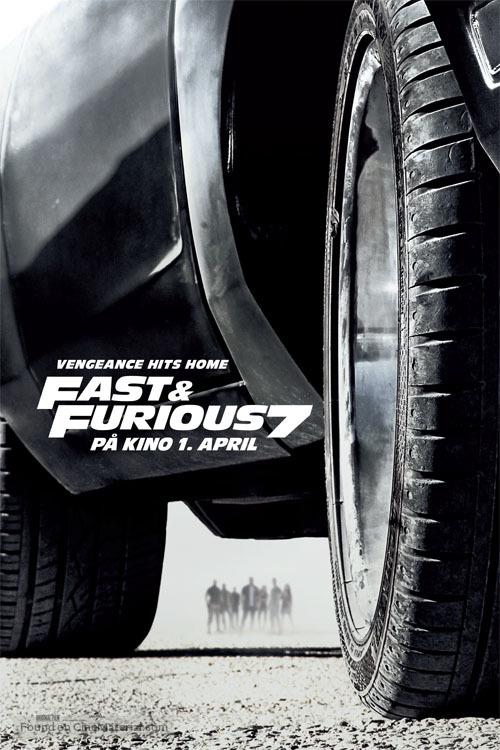 Furious 7 - Norwegian Movie Poster