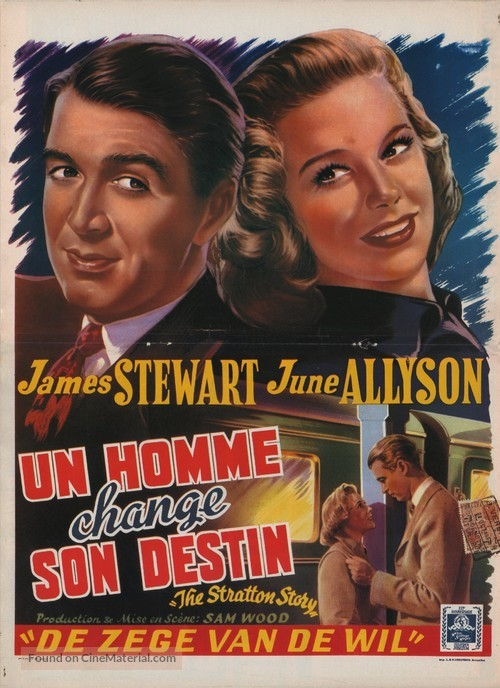 The Stratton Story - Belgian Movie Poster