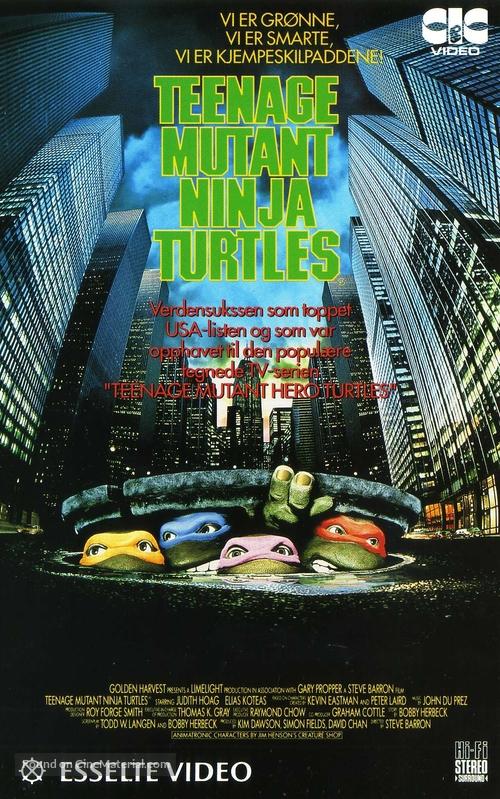 Teenage Mutant Ninja Turtles - Norwegian VHS cover