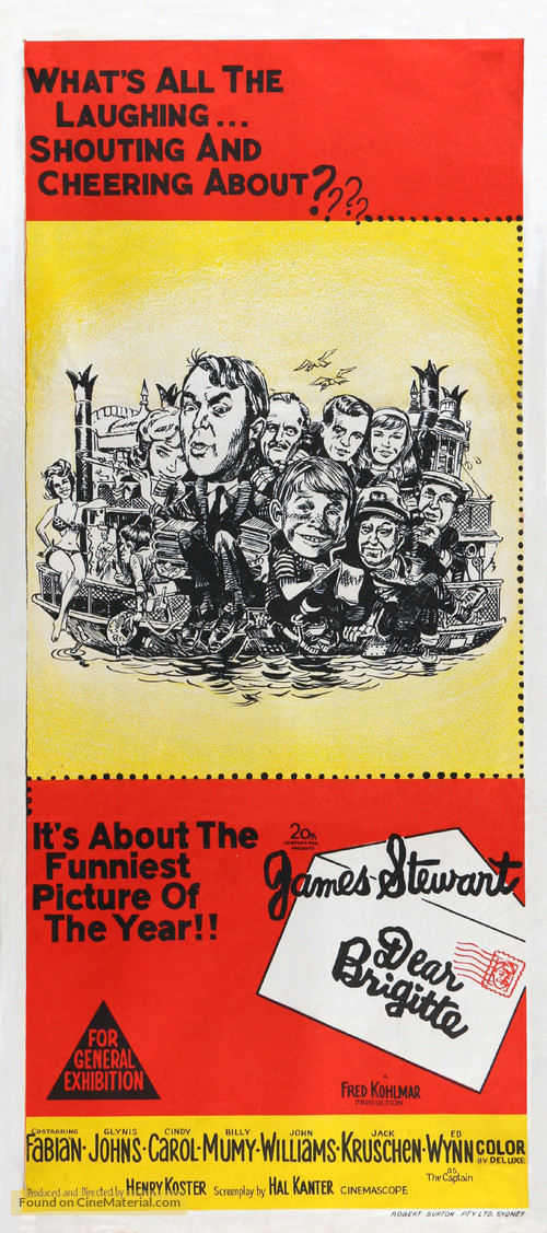 Dear Brigitte - Australian Movie Poster
