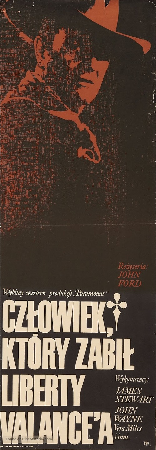 The Man Who Shot Liberty Valance - Polish Movie Poster