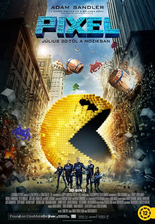 Pixels - Hungarian Movie Poster