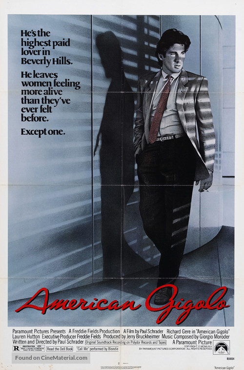 American Gigolo - Theatrical poster