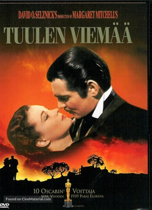 Gone with the Wind - Finnish Movie Cover