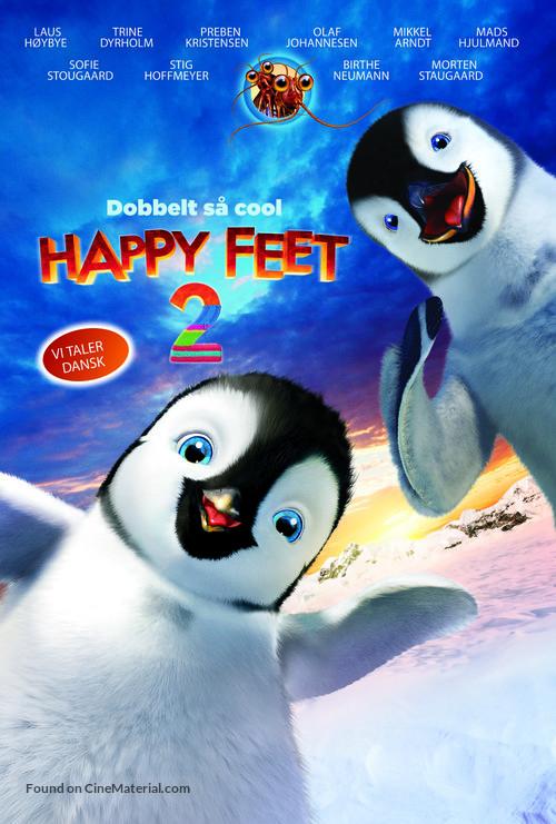 Happy Feet Two - Danish Movie Poster