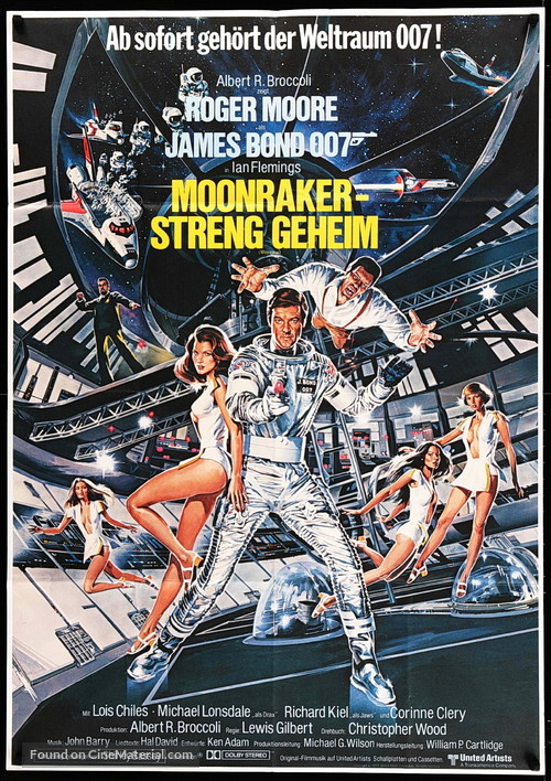 Moonraker - German Movie Poster