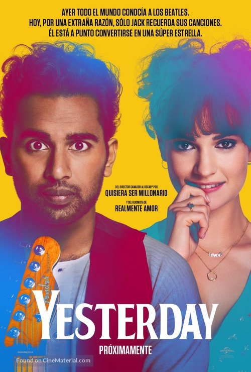 Yesterday - Colombian Movie Poster