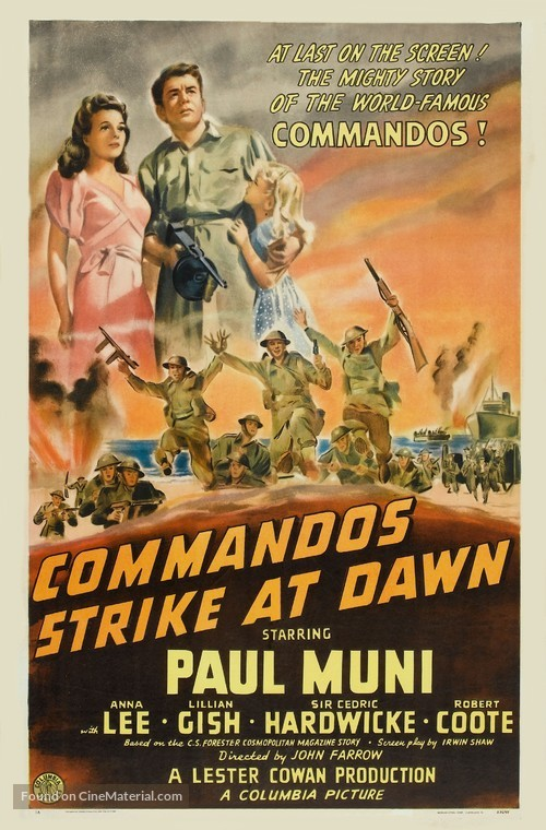 Commandos Strike at Dawn - Movie Poster