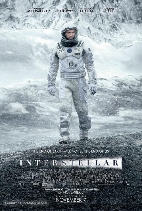 Interstellar - Theatrical movie poster