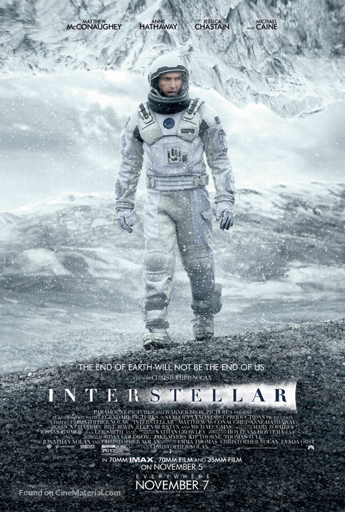 Interstellar - Theatrical movie poster