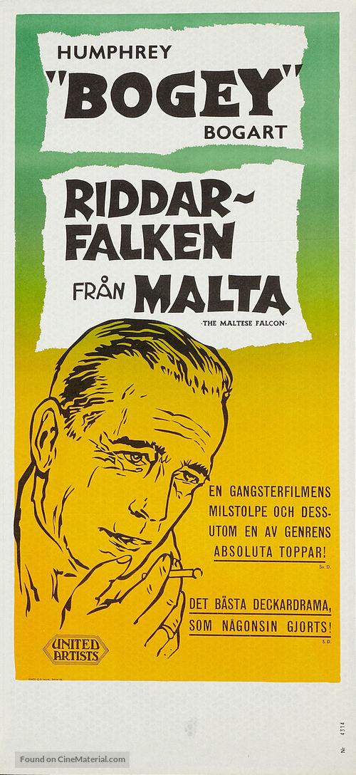 The Maltese Falcon - Swedish Movie Poster