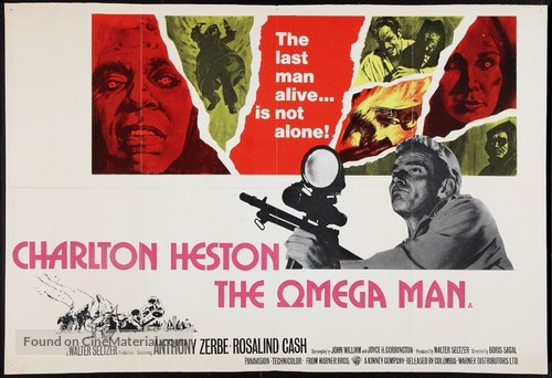 The Omega Man - British Movie Poster