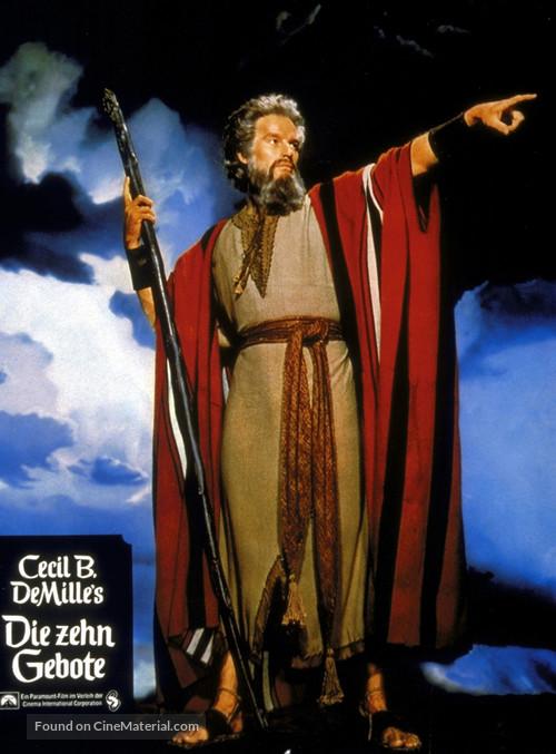 The Ten Commandments - German poster
