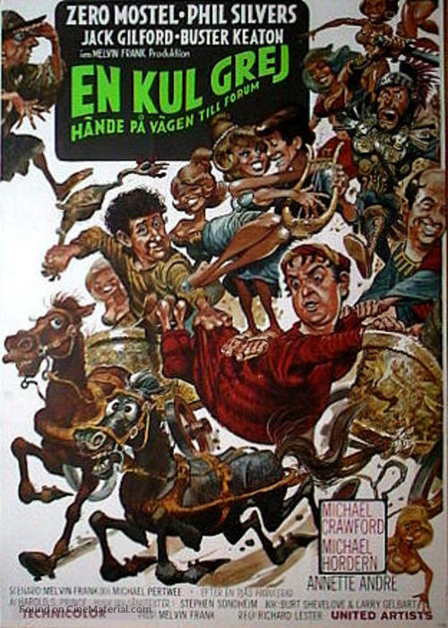 A Funny Thing Happened on the Way to the Forum - Swedish Movie Poster