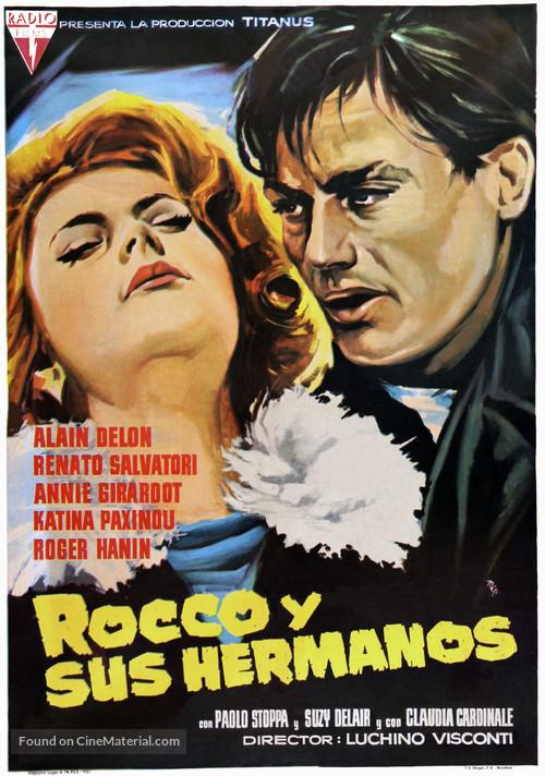 Rocco e i suoi fratelli - Spanish Movie Poster