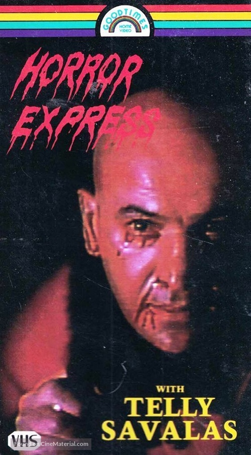 Horror Express (1972) vhs movie cover